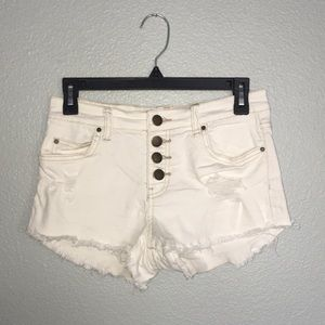 Billabong White Denim Shorts